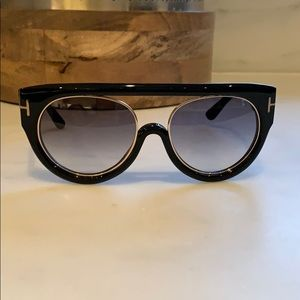 Tom Ford Alana Aviator TF360 Black/Gold Sunglasses